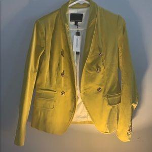 Mustard Yellow Courduroy Blazer